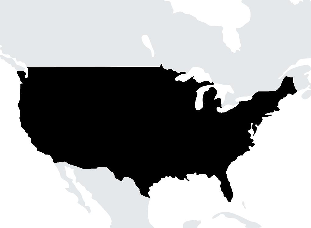 Map Etats-Unis