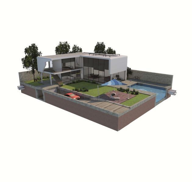 individual concrete home