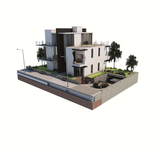 Collective housing in concrete